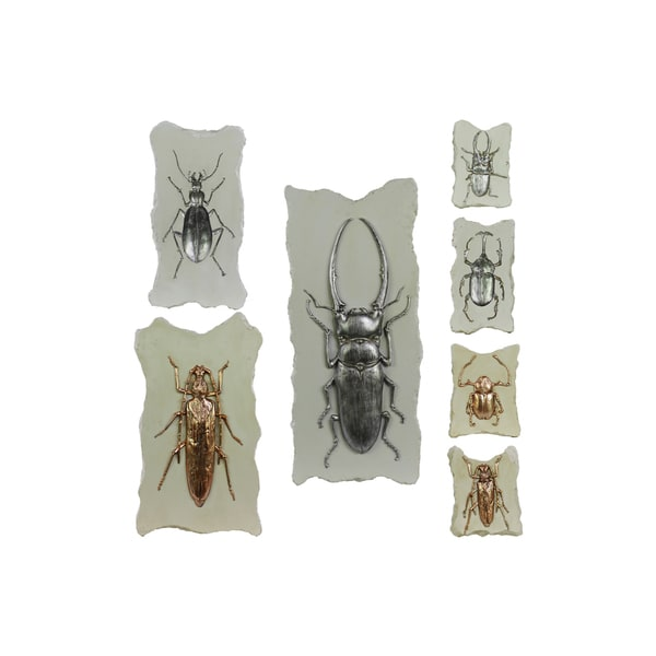 Assorted Color Resin Bugs Without Hooks (Set of 7)Assorted Color