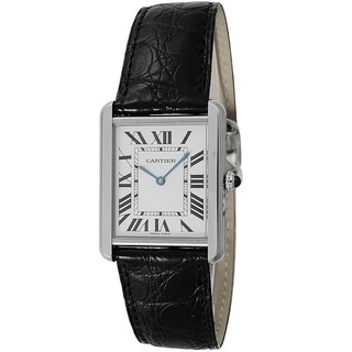 Cartier Men's W5200027 Tank Solo Rectangle Black Strap Watch