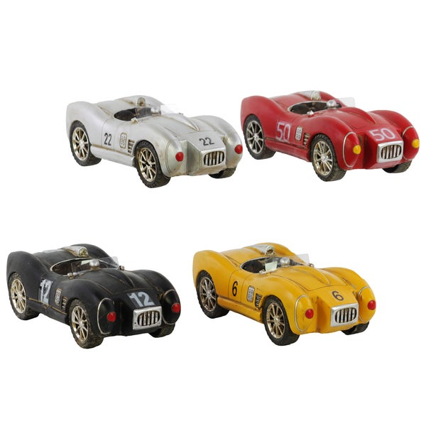 Silver, Red, Black and Yellow Resin Cars '66 Shelby Cobra (Set of 4)