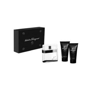 Salvatore Ferragamo Men's F Black 3-piece Gift Set