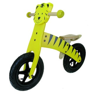 M-Wave Kids 12-inch Wooden Tiger Balance Bike