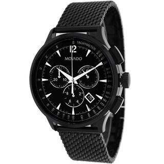 Movado Men's 0606804 Circa Round Black Bracelet Watch