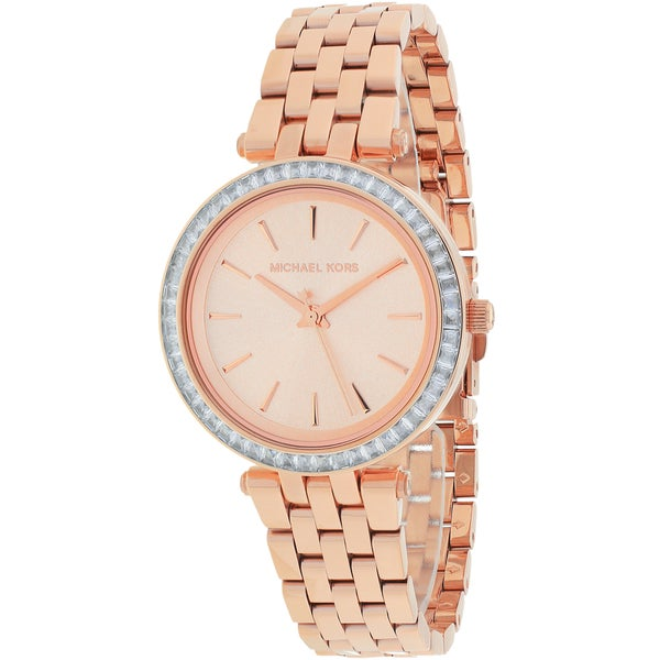 Michael Kors Women's MK3366 'Darci' Crystal-set Rose Gold Tone Stainless Steel Watch