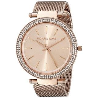 Michael Kors Women's MK3369 'Darci' Crystal-set Rose Gold Tone Stainless Steel Watch
