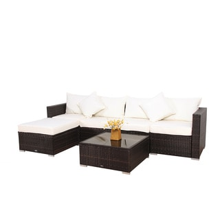BroyerK 6 Piece Outdoor Rattan Patio Furniture Set
