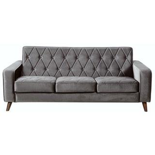 Bowery Grey Velvet Sofa