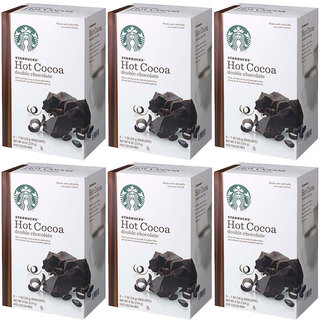 Starbucks Hot Cocoa Mix 8-ounce Double Chocolate, (6 Pack)