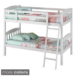 CorLiving Ashland Twin/ Single Bunk Bed with Angled Ladder
