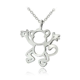 Mondevio Sterling Silver Monkey Necklace