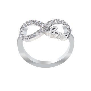 ICZ Stonez Sterling Silver Cubic Zirconia Infinity Love Ring