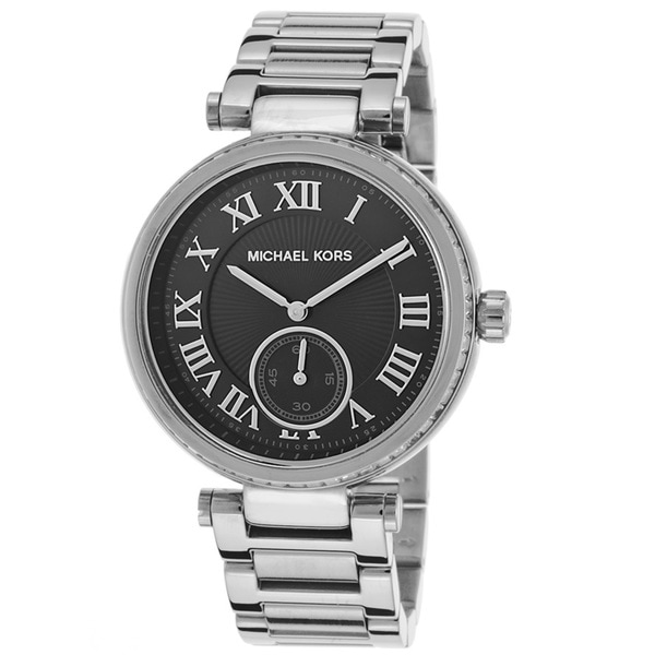 Michael Kors Women's MK6053 'Skyler' Black Dial Stainless Steel Watch