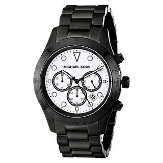 Michael Kors Men's MK6083 'Layton' Chronograph Black Stainless Steel Watch
