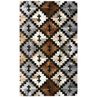 Brown Leather Hair-On Hide Matador Rug (8'x10')