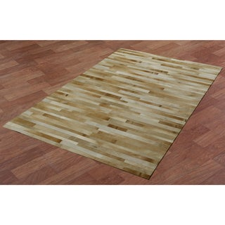 Tan Leather Hair-On Hide Matador Rug (8'x10')