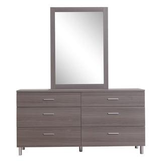 Cayden Wood Double Dresser and Mirror Set
