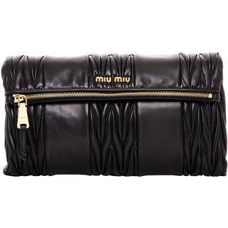Miu Miu Matelasse Patch Shoulder Bag