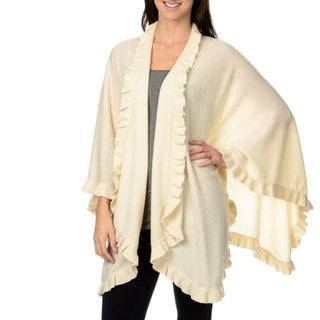 Ply Cashmere Women's Ruffle Cashmere Wrap
