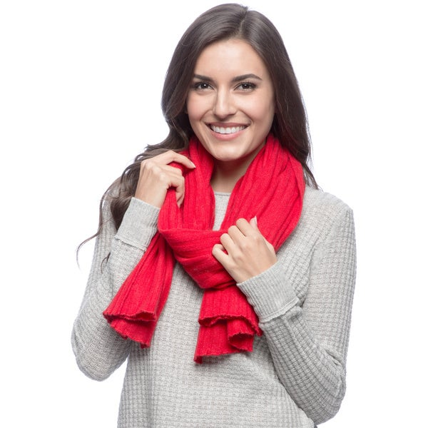 Ply Cashmere Picot Edge Scarf