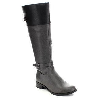 Soda Women's Jade Stylish Stacked Heel Riding Boots
