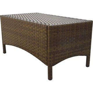 Panama Jack St. Barths Wicker Rectangular Coffee Table