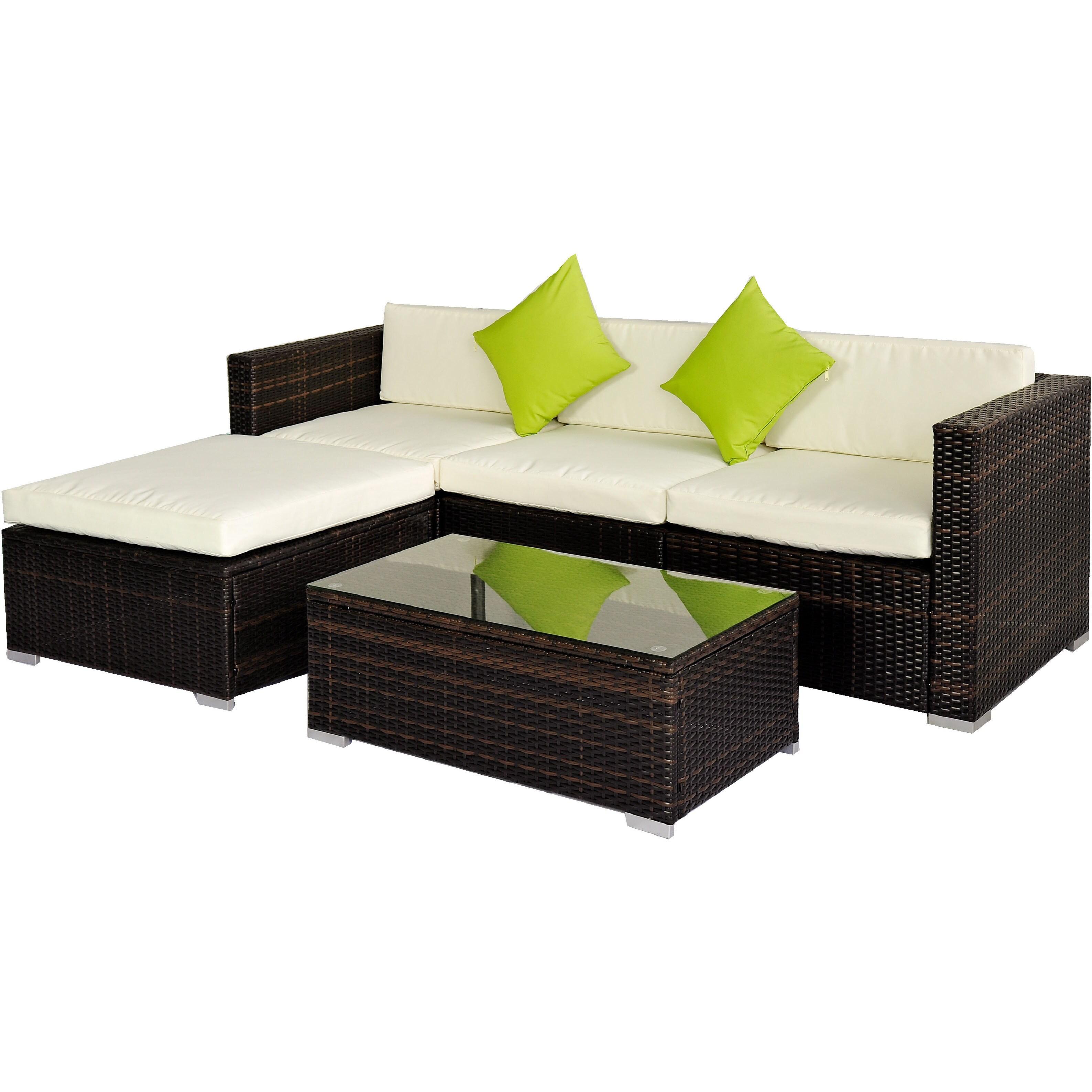 BroyerK 5 piece Rattan Outdoor Patio Furniture Set