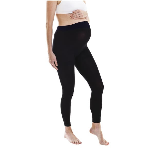 Fertile Mind Maternity Black Footless Tights (One Size)