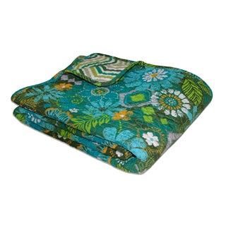 Tiki Hut Quilted Cotton Throw