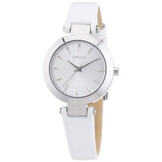 DKNY Women's NY8834 White Leather Watch
