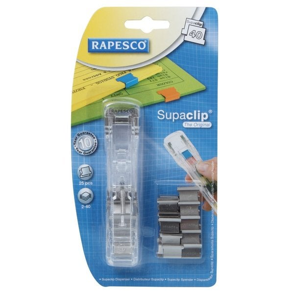 Rapesco Supaclip 40 Dispenser/ Stainless Steel Clips