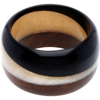 Faux Brown Ivory and Marble Look Natural Bangle (India)
