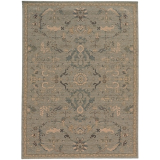 Heritage Faded Persian Blue/ Beige Rug (6'7 X 9'6)