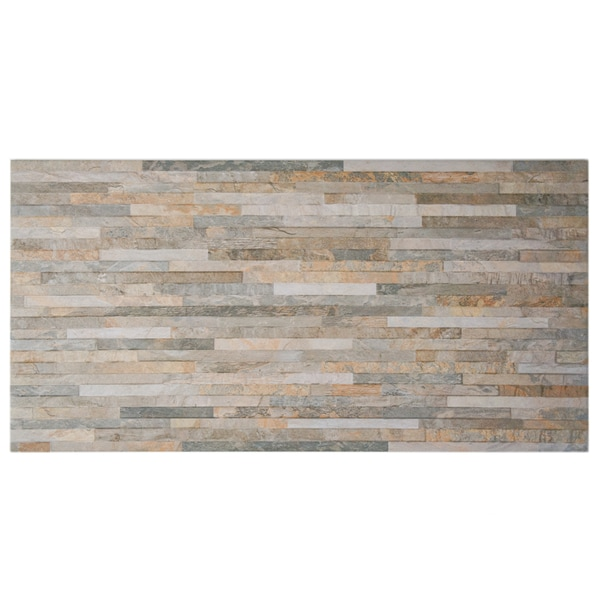 SomerTile 12.5x24.5-inch Muro Ariana Ocre Porcelain Wall Tile (Case of 5)