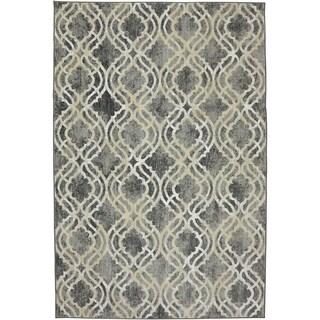 Karastan Euphoria Potterton Ash Grey SmartStrand Rug (8' x 11')