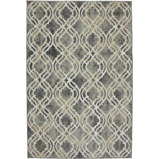 Karastan Euphoria Potterton Ash Grey SmartStrand Rug (9'6 x 12'11)