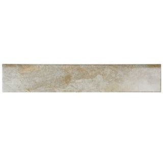 SomerTile 3.125x17.5-inch Ariana Ocre Porcelain Bullnose Floor and Wall Tile (Pack of 6)