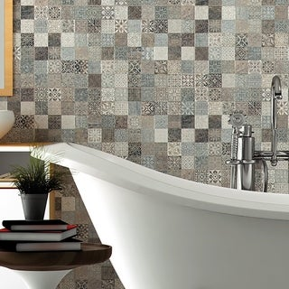 SomerTile 17.5x17.5-inch Deco Calatrava Ariana Porcelain Floor and Wall Tile (Case of 5)