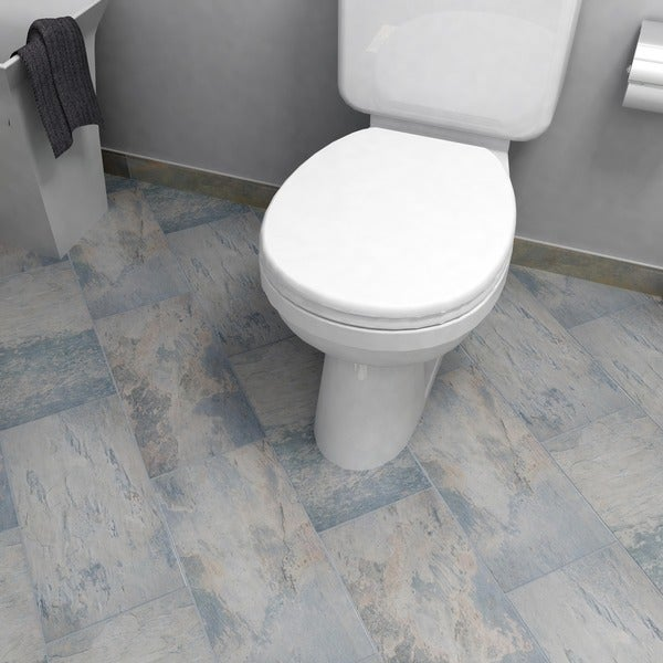 SomerTile 12.5x24.5-inch Ariana Gris Porcelain Floor and Wall Tile (Case of 5)