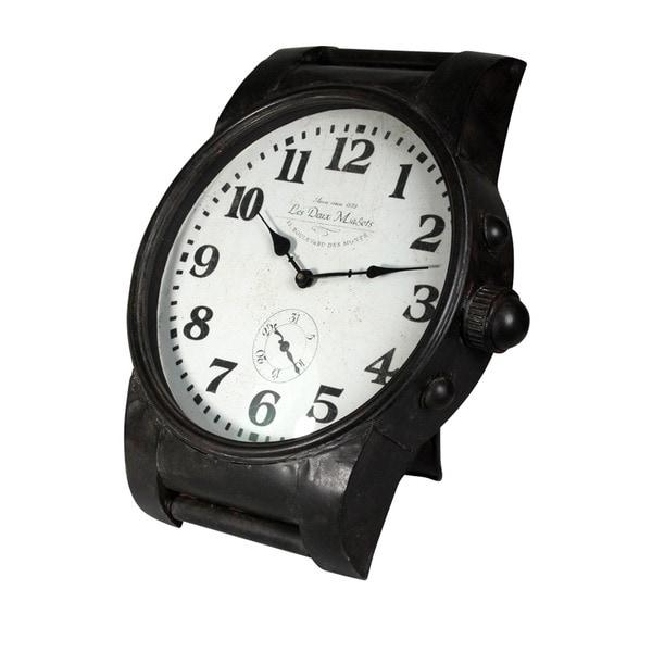Wrist Watch Style Iron Clock