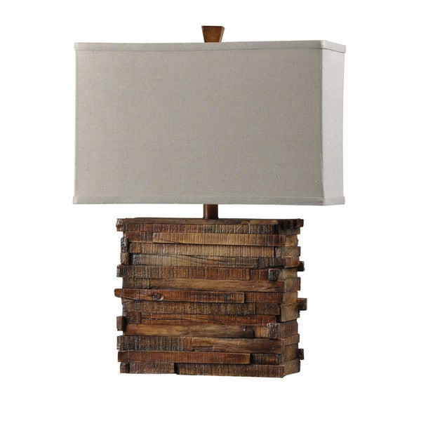 Restoration Wood Look Table Lamp