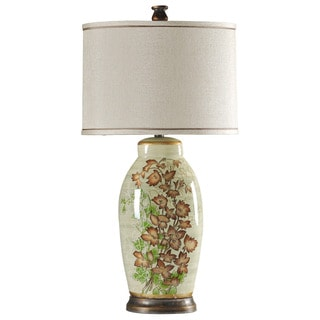 Ceramic Floral Painted Table Lamp