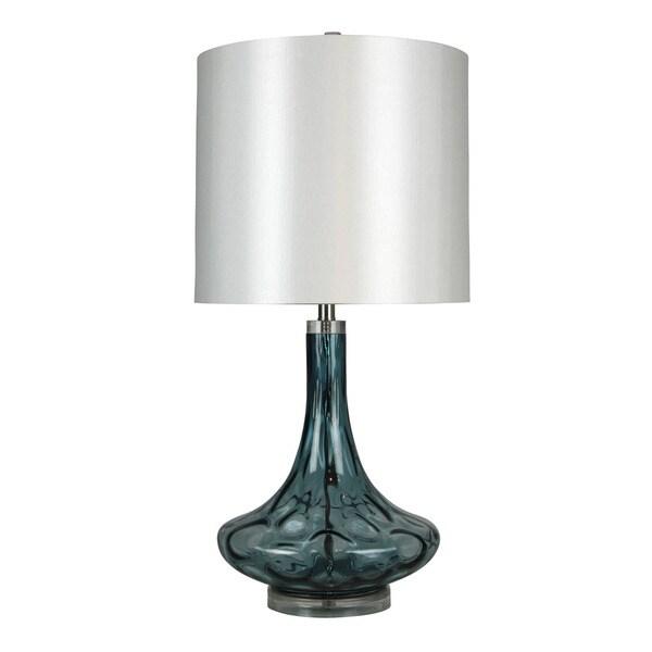 Maya Blue Swirl Glass Table Lamp