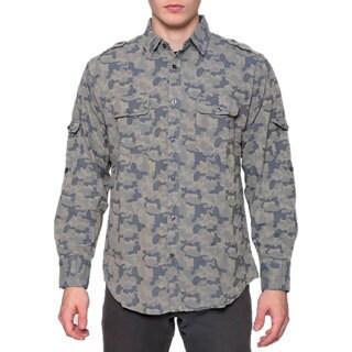 Men's Camo Safari Long Sleeve Shirt