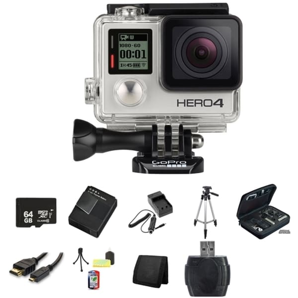 GoPro HERO4 Silver Edition Camera 64GB Bundle