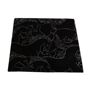 Area Horses Design Square Mat Wool and Silk Area Rug (2' x 2')