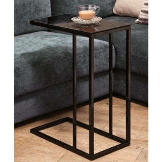 Tempered Glass Top Modern Snack Table