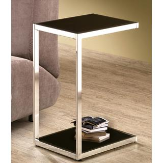 Reversible Black and White Top Snack Table