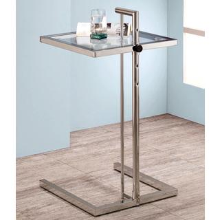 Boxeon Chrome and Glass Adjustable Snack Table
