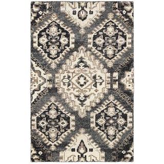 Contemporary Nisha Gray Rectangle Rug (10' X 14')