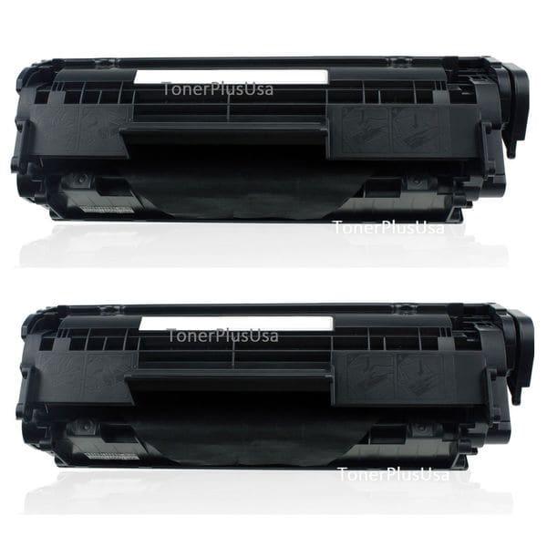 2-Pack Q2612A Black Toner Cartridge for HP