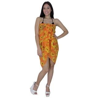 La Leela Sheer Chiffon Floral Printed Beach Sarong